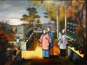 Trois dames, maison et bassin / YOUCA (Canton-Chine) Musée des beaux-arts de La Rochelle